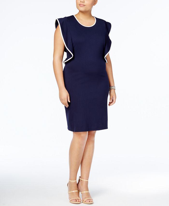 Love Squared - Trendy Plus Size Ruffled Bodycon Dress