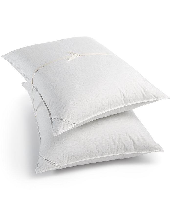 Calvin Klein - Outline Logo Pair of Standard Pillows