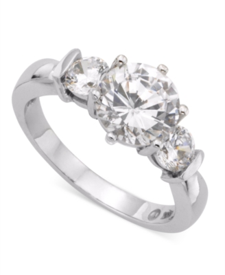 14K White Gold Cubic Zirconia Ring (2-1/2 ct. t.w.)