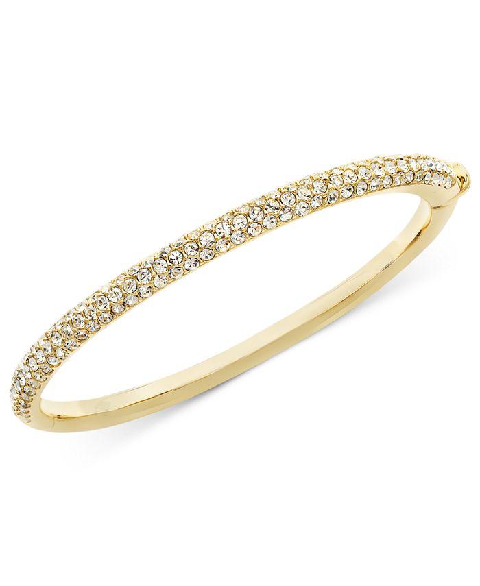 Eliot Danori - Bracelet, Silver-Tone Crystal Bangle