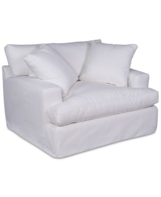 """Brenalee 53"""" Performance Fabric Slipcover Chair and 1/2"""