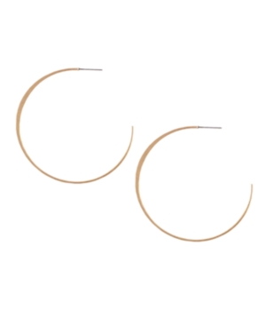 Jessica Simpson Earrings, Gold Tone Hoop