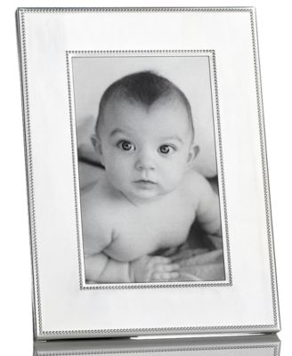 "Martha Stewart Collection Picture Frame, Silver Bead 4"" x 6"""