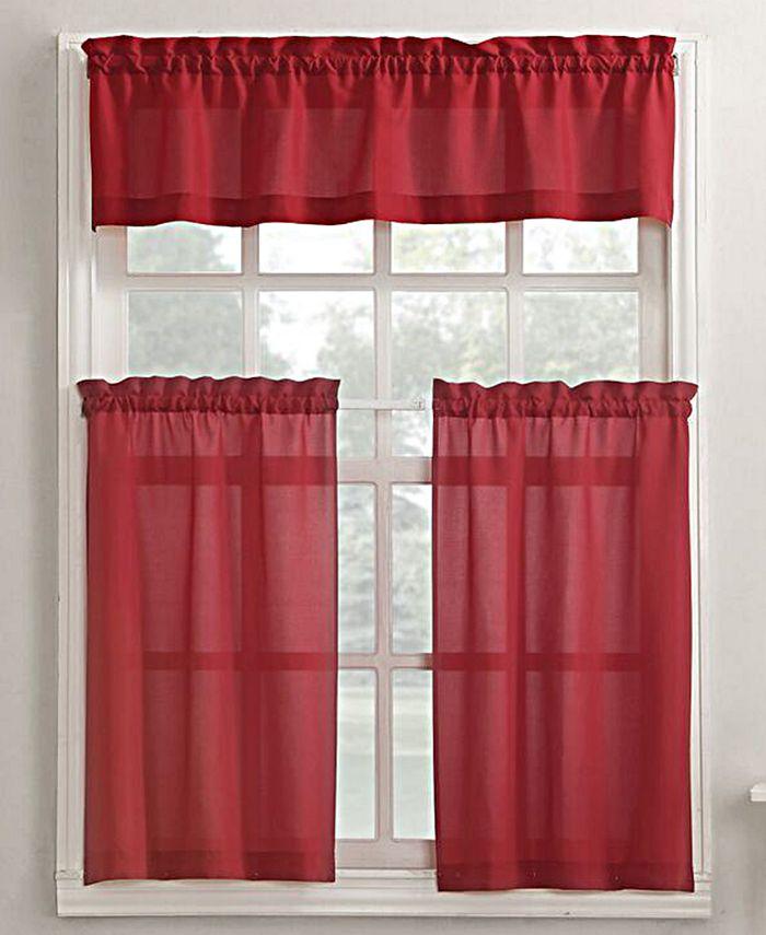No. 918 - Martine 3-Piece Kitchen Curtain Set