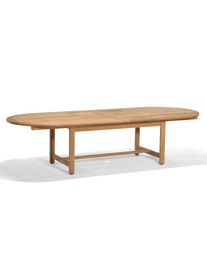 "Furniture - Bristol Teak 118"" x 47"" Outdoor Dining Table"