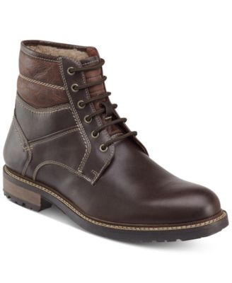 johnston and murphy shearling boot