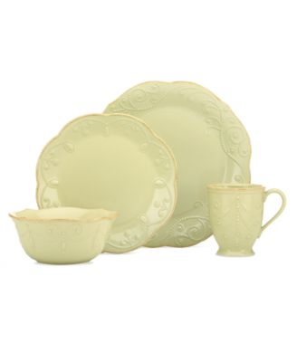 CLOSEOUT! Lenox Dinnerware, French Perle Pistachio 4 Piece Place Setting