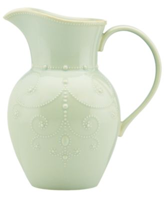 Lenox Dinnerware, French Perle Ice Blue Large Pitcher