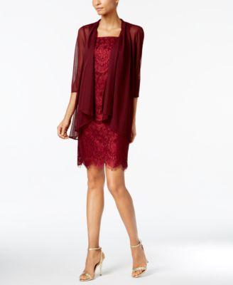 R & M Richards Lace Sheath Dress And Jacket