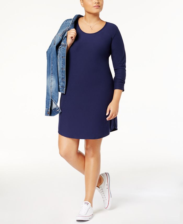 Planet Gold - Trendy Plus Size Kylie Printed Dress