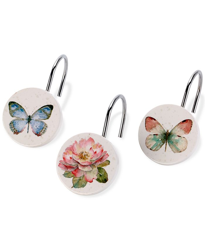 Avanti - Butterfly Garden Shower Hooks