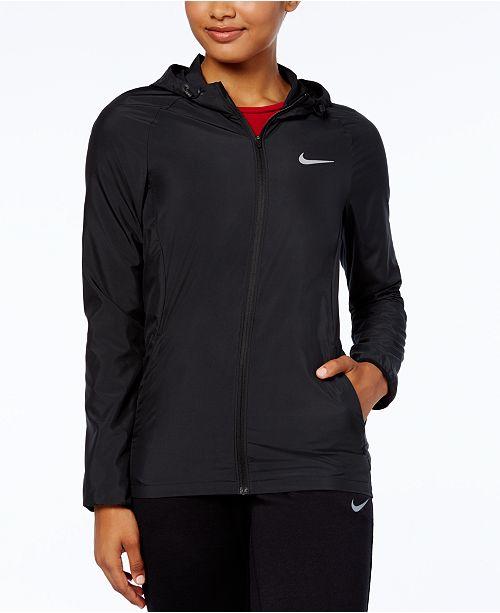 En riesgo Cambiarse de ropa Monumento  Nike Essential Hooded Running Jacket & Reviews - Jackets & Blazers - Women  - Macy's