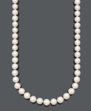 """Belle de Mer Pearl Necklace, 36"""" 14k Gold A+ Cultured Freshwater Pearl Strand (11-13mm)"""