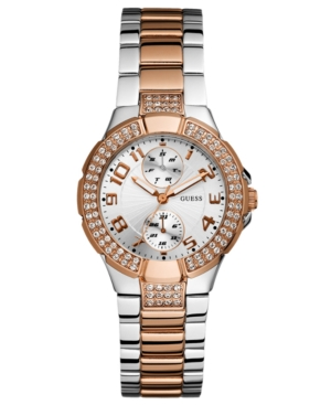 GUESS Watch, Women's Rose Gold Tone and Steel Bracelet 36mm U13586L2