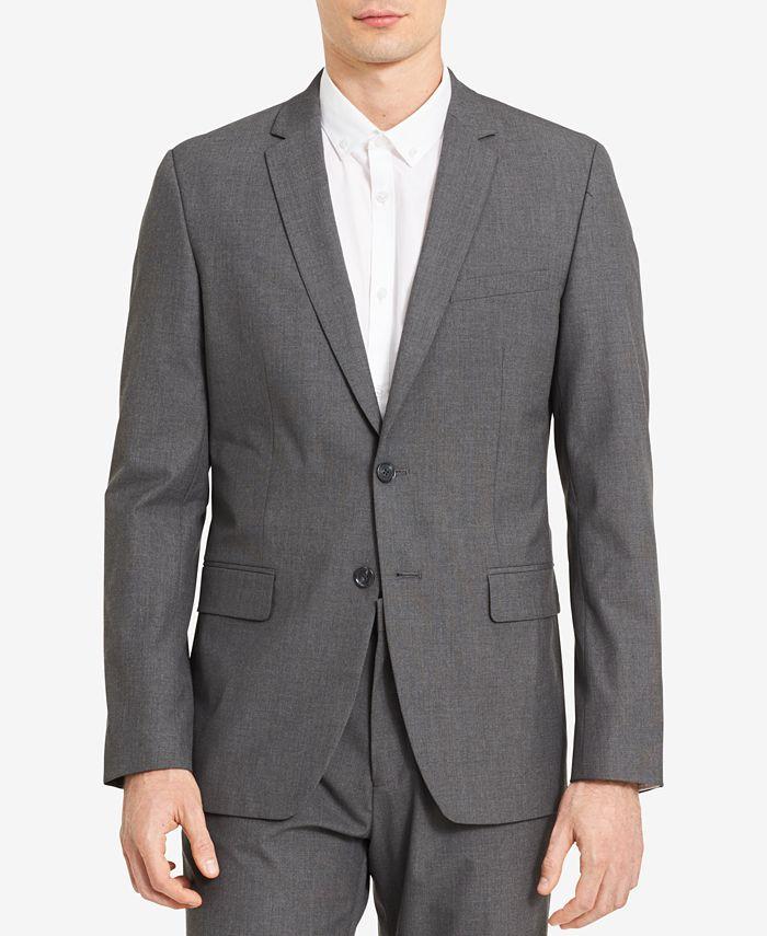 Calvin Klein - Men's Slim-Fit Chambray Blazer