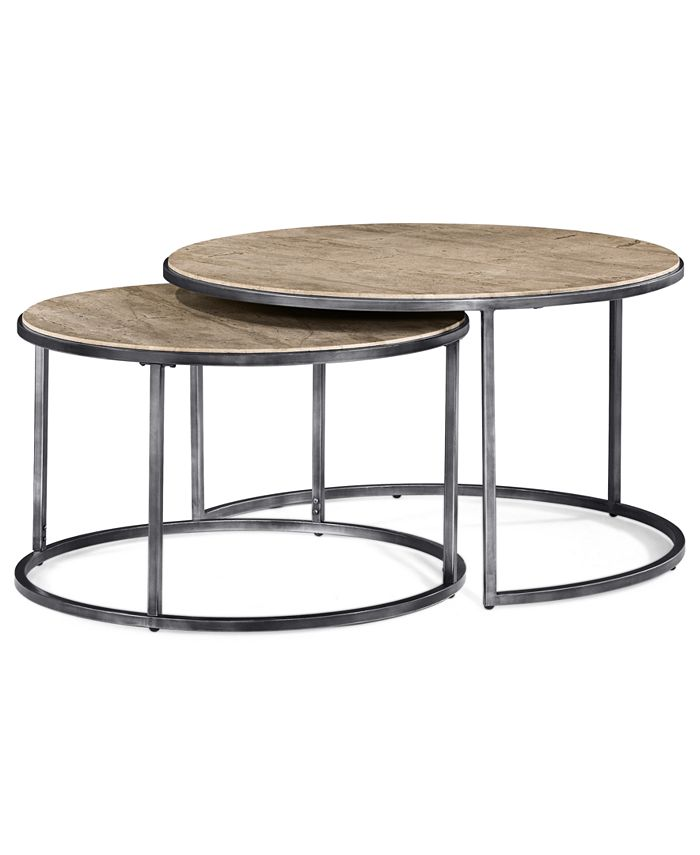 Furniture Monterey Coffee Table Round Nesting Reviews Furniture Macy S