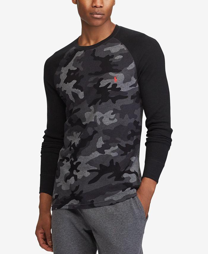 Polo Ralph Lauren Men's Camo Waffle-Knit Thermal Shirt & Reviews ...