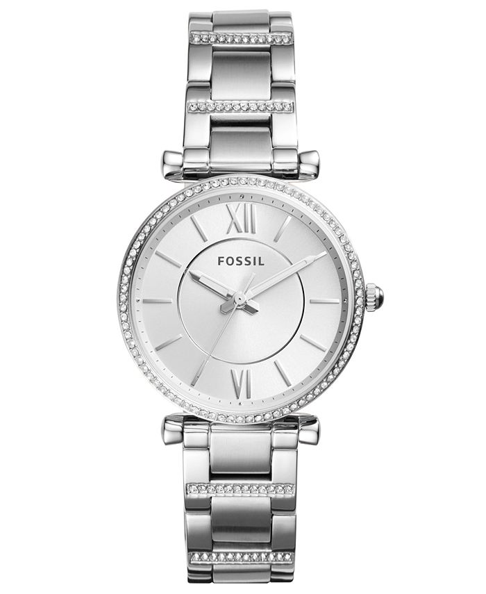 Fossil - Women's Carlie Stainless Steel Bracelet Watch 35mm