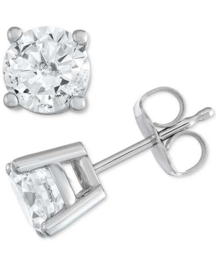 Macy's Star Signature Diamond - Certified ™ Stud Earrings (1-1/2 ct. t.w.) in 14k Gold or White Gold