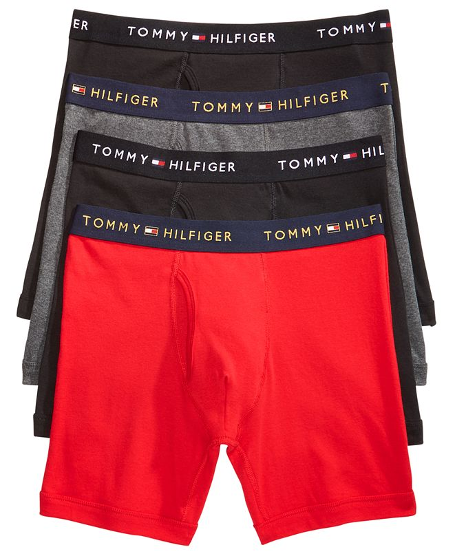 Tommy Hilfiger Men's 4-Pack. Cotton Boxer Briefs