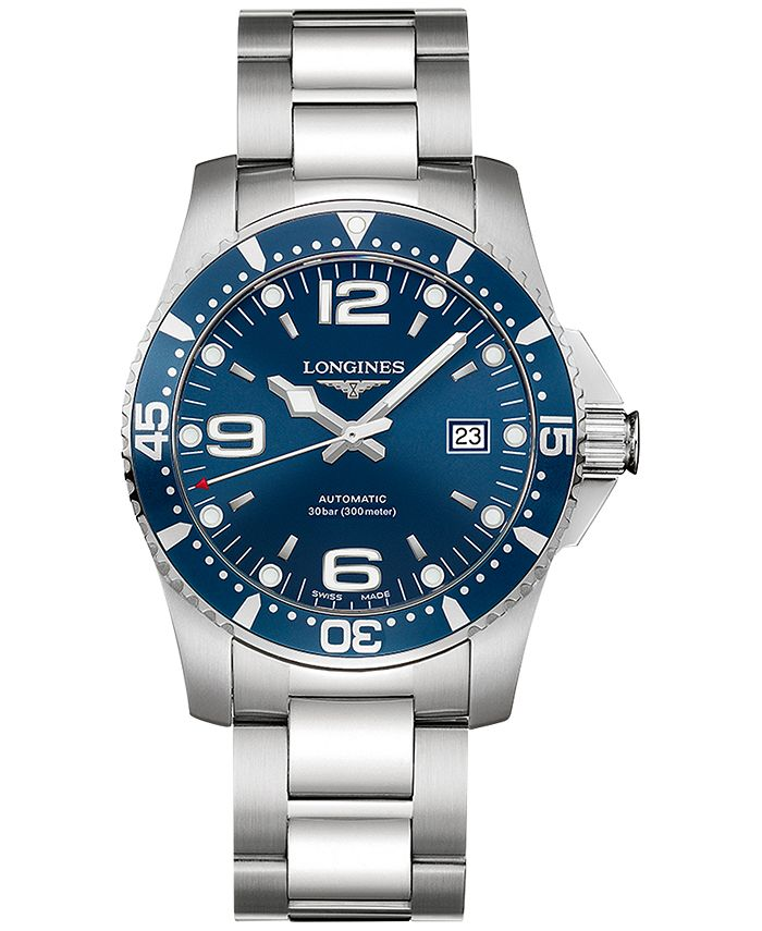Longines - Men's Swiss Automatic HydroConquest Stainless Steel Bracelet Watch 41mm