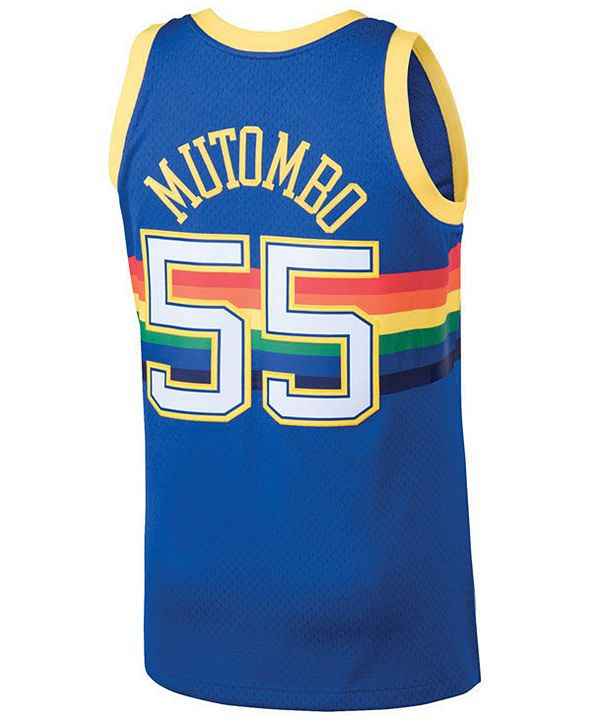 Mitchell & Ness Men's Dikembe Mutombo Denver Nuggets Hardwood Classic Swingman Jersey