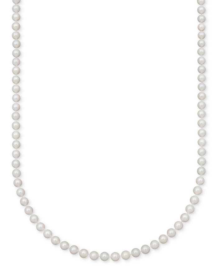 Belle de Mer - A Cultured Freshwater Pearl Strand Necklace (7-1/2-8-1/2mm) in 14k gold