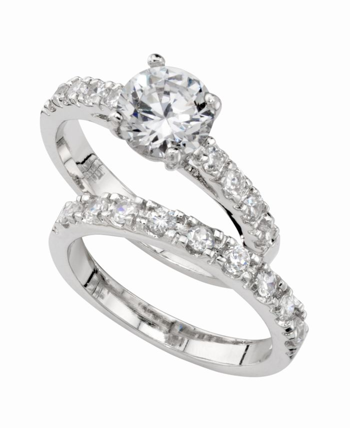 Charter Club Cubic Zirconia (3 ct. t.w.) Engagement Ring Set & Reviews - Rings - Jewelry & Watches - Macy's