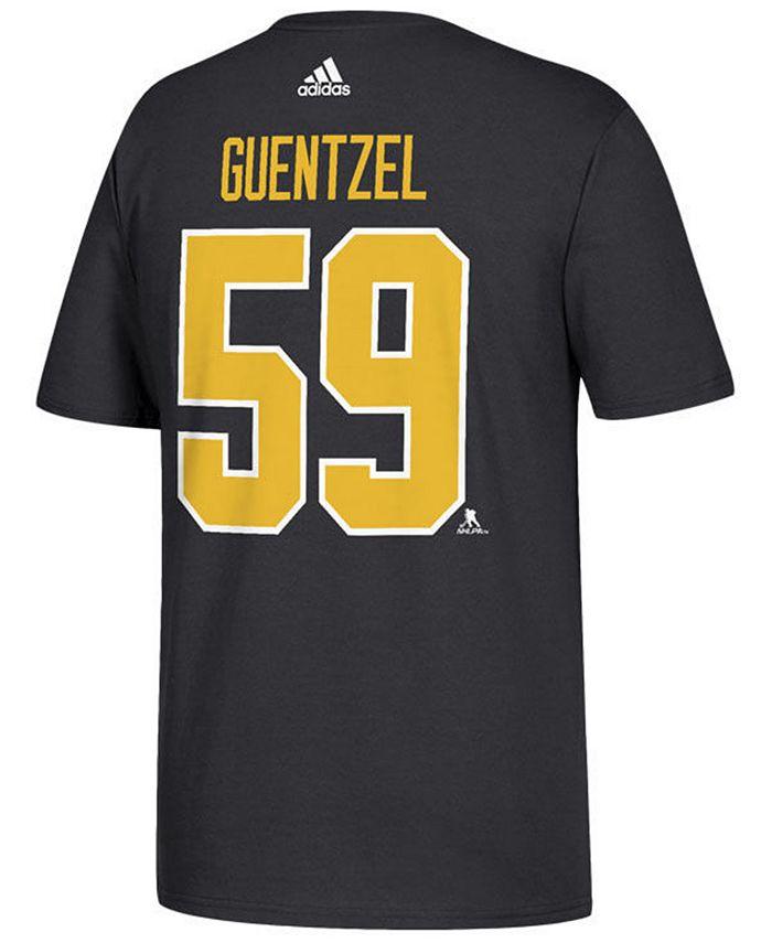 adidas Men's Jake Guentzel Pittsburgh Penguins Silver Player T ...