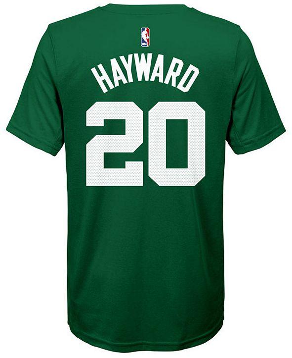 Nike Gordon Hayward Boston Celtics Icon Name & Number T-Shirt, Big Boys (8-20)