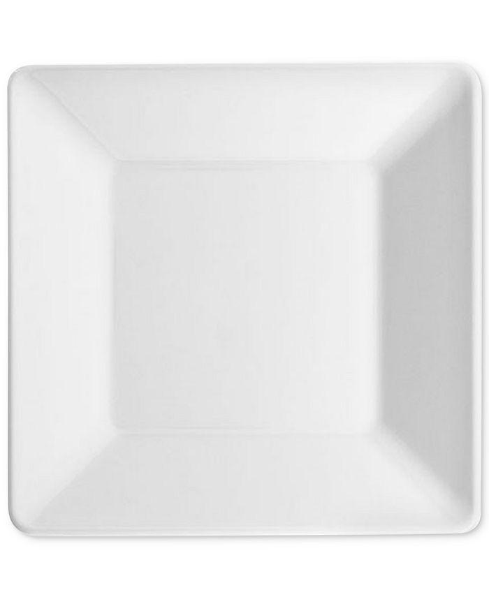 "Q Squared - Diamond Square 5.5"" Melamine Bread & Butter Plates, Set Of 4"