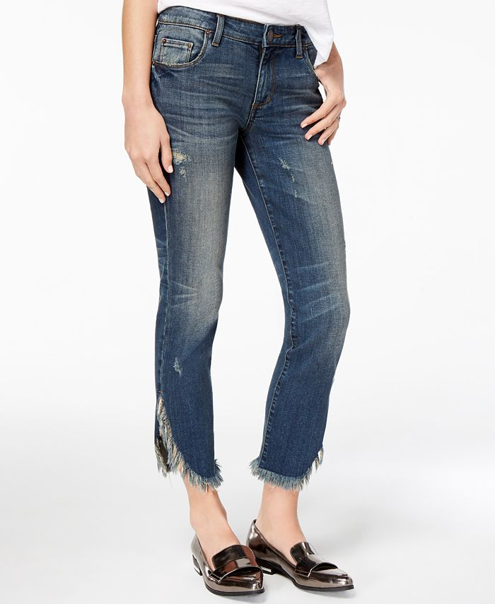 STS Blue - Cotton Frayed Tulip-Cuff Jeans