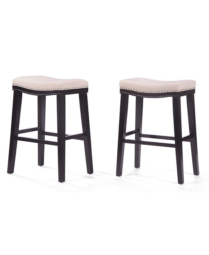 Noble House - Backless Bar Stool (Set Of 2), Quick Ship