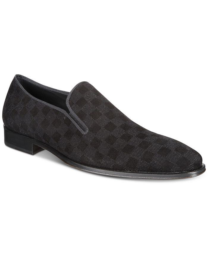 Mezlan - Men's Checkerboard Suede Loafers
