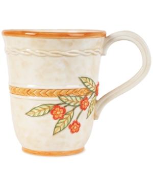 Fitz and Floyd Dinnerware, Carissa Paisley Beige Mug