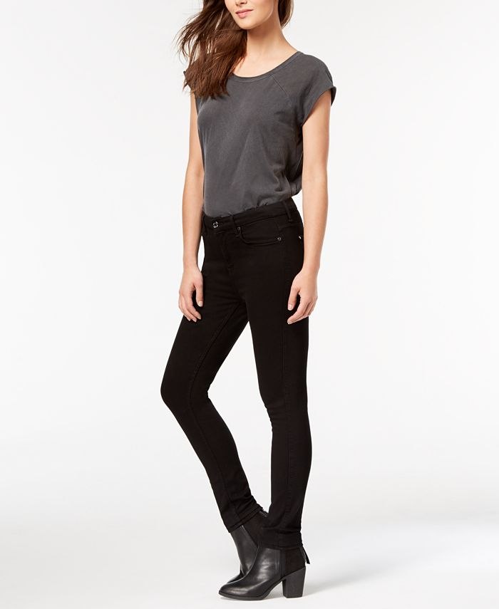 7 For All Mankind - Skinny Jeans, Slim Illusion Luxe Black Wash