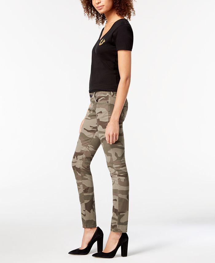 True Religion - Casy Camo-Print Skinny Jeans