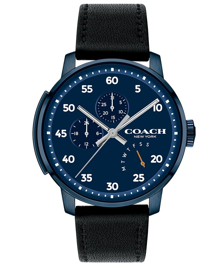 COACH - Men's Bleecker Black Leather Strap Watch 42mm