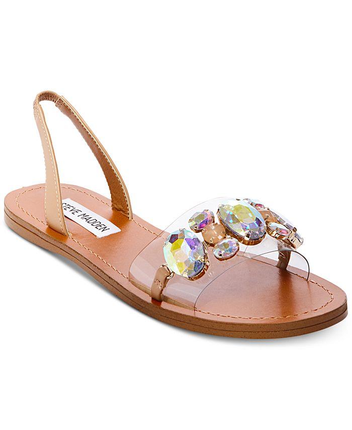Steve Madden - Women's Alice Embellished Flat Sandals