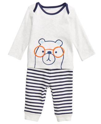 Baby Boys 2-Pc. Bear-Print Top & Leggings Set, Created for Macy's