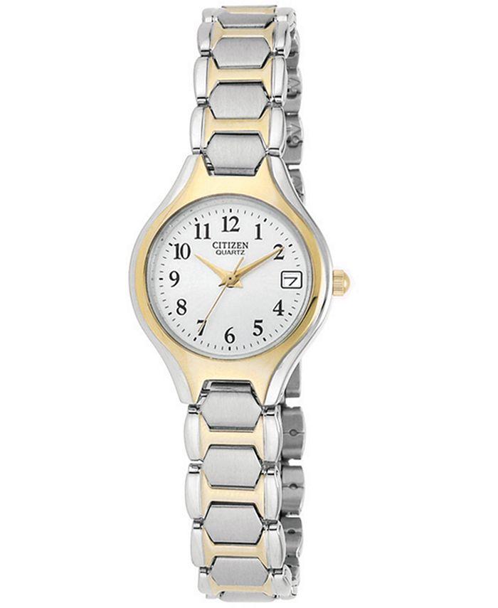 Citizen - Women's Two Tone Stainless Steel Bracelet Watch 23mm EU2254-51A