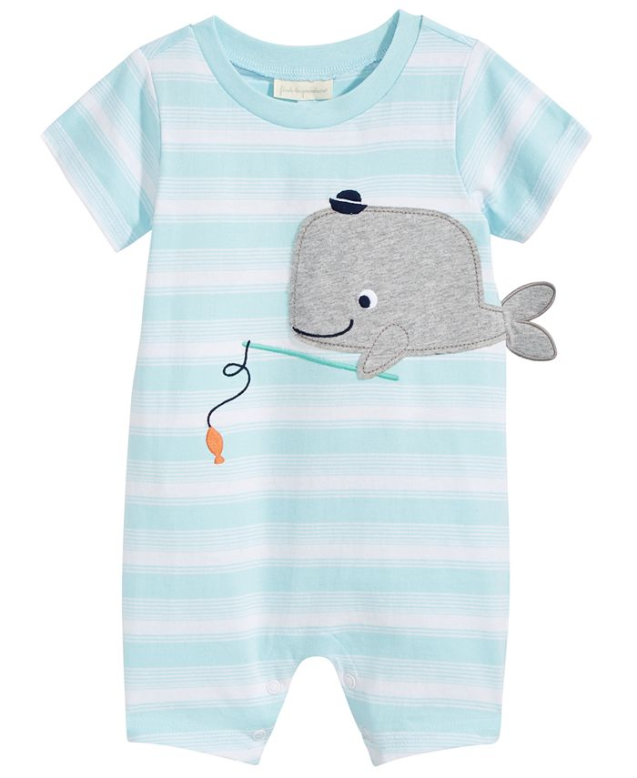 First Impressions - Whale Cotton Sunsuit, Baby Boys (0-24 months)