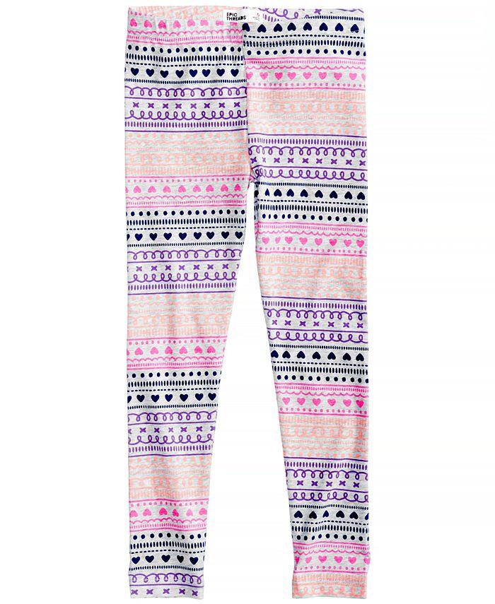 Epic Threads - Geo-Print Leggings, Toddler Girls (2T-5T)