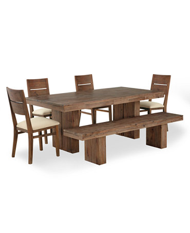 Set Dining Table 4 Side Chairs And 1 Bench Furniture Macy 39 S