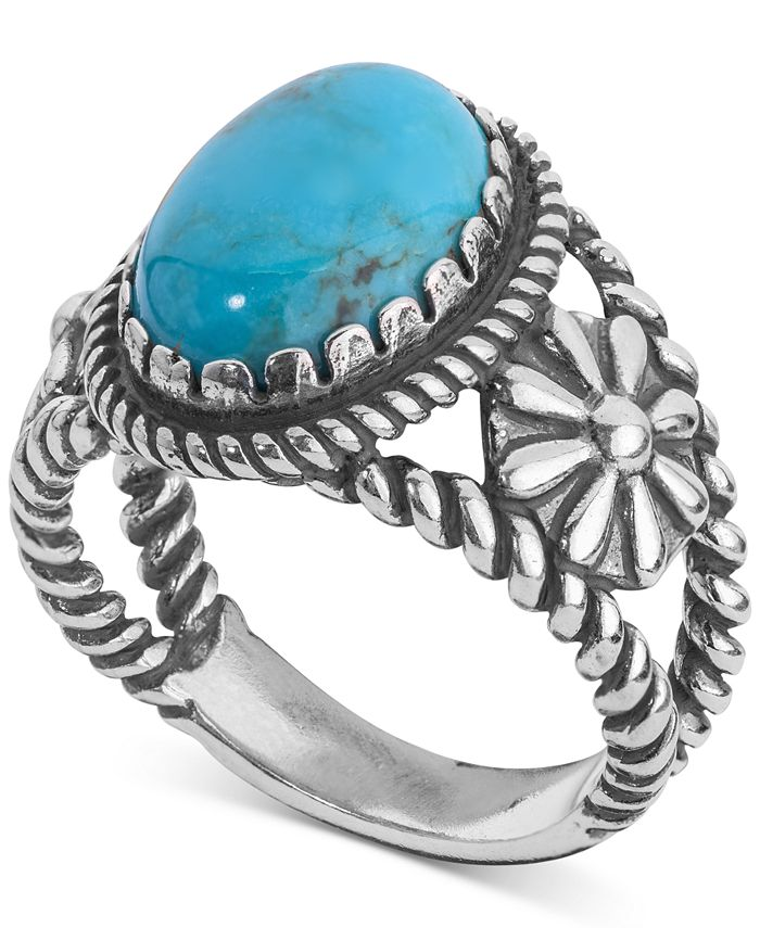 American West - Turquoise Ring (4-1/5 ct. t.w.) in Sterling Silver