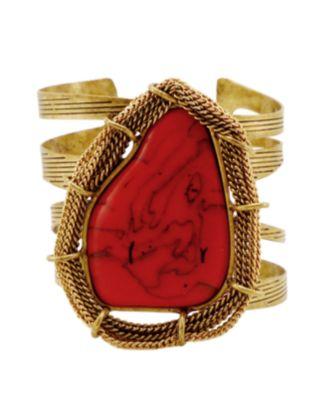 Jessica Simpson Bracelet, Coral Cuff