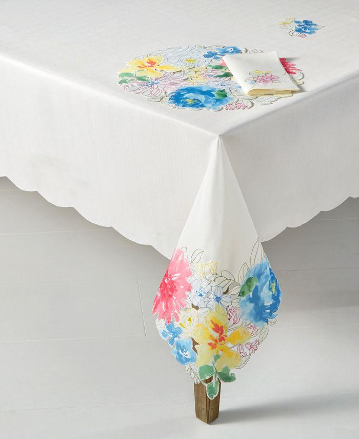 "Homewear - Beauchamp Floral Cutwork 60"" x 140'' Tablecloth"