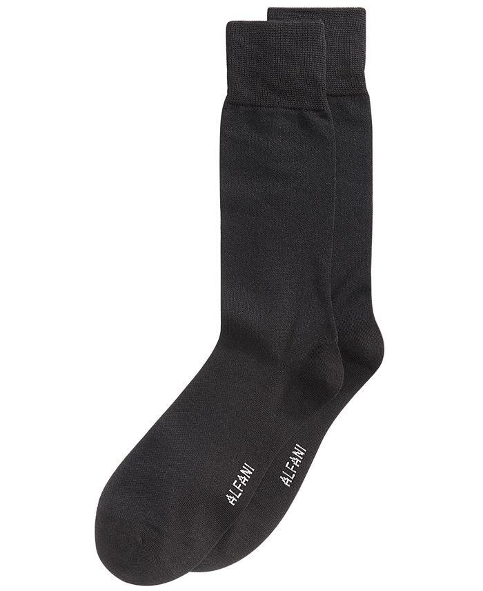Alfani - Men's Piqué Knit Dress Socks