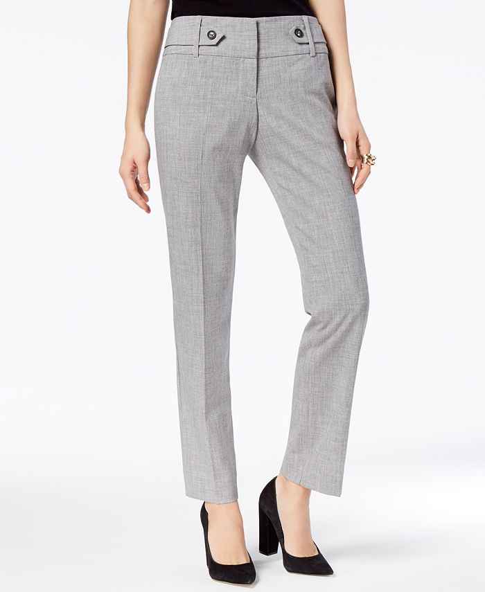 BCX - Juniors' Tab-Trimmed Ankle-Length Trousers
