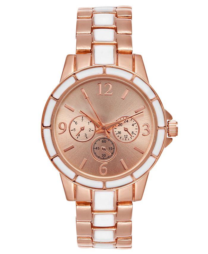 Charter Club - Women's Two-Tone & White Bracelet Watch 34mm